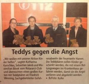Teddys für Rettungsdienste