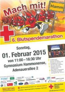 Flyer Blutspendemarathon